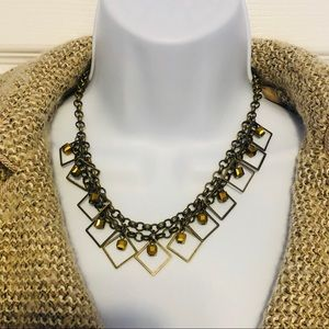 Necklace with Gold Tone Embellishments